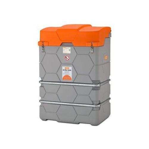Zbiornik na zużyty olej cube, outdoor premium, ze składaną pokrywą, poj. 2500 l. marki Cemo