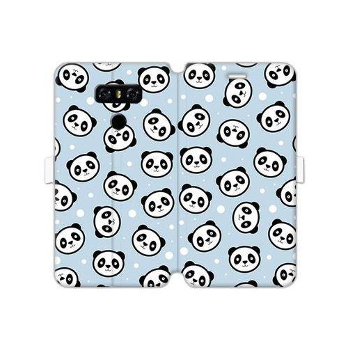 Lg g6 - etui na telefon wallet book fantastic - panda na niebieskim tle marki Etuo wallet book fantastic