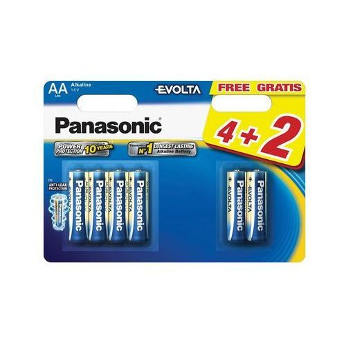 Panasonic Evolta 6szt AA (LR6EGE/6BP) Darmowy odbiór w 21 miastach!, LR6EGE/6BP