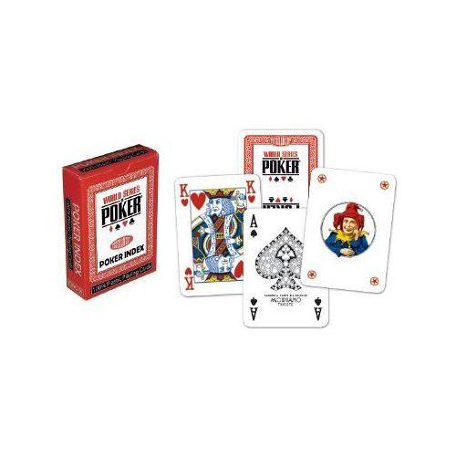 Karty pokerowe WSOP regular index czerwone