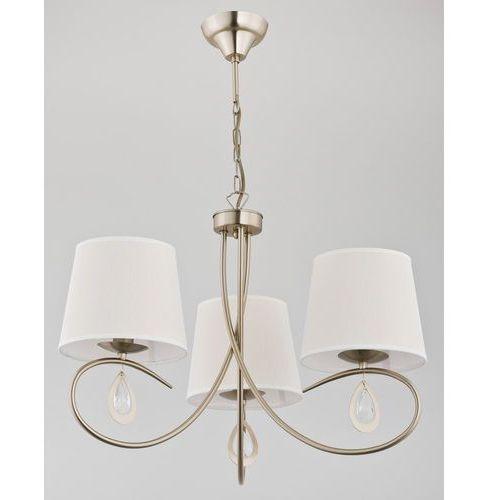 Lampa wisząca izyda 22053 zwis 3x40w e14 biała, złota patyna marki Alfa
