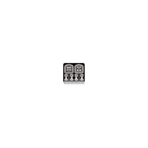 Podkładka korkowa FOLK na ludowo-kurpiowska czarna (5901845107365)