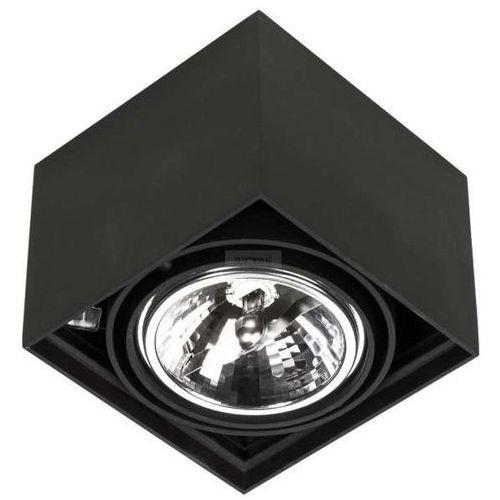 Spot lampa sufitowa cardi i nero natynkowa oprawa minimalistyczna kostka czarna marki Orlicki design
