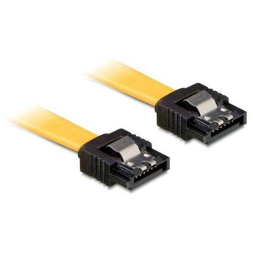 kabel sata 6gb/s 20cm prosty/prosty (metalowe zatrzaski) żółty darmowa dostawa do 400 salonów !!, marki Delock