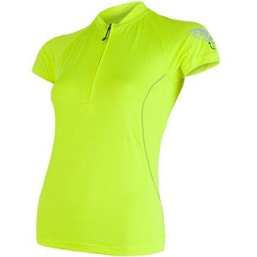 Sensor Damska koszulka rowerowa z krótkim rękawem Cyklo Entry Yellow reflex