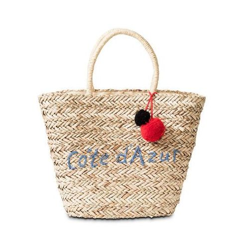 Torba plażowa shopper naturalno-lazurowy marki Bonprix
