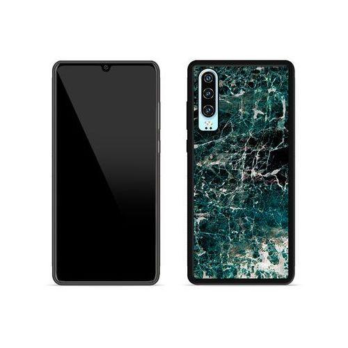 Etuo aluminum fantastic Huawei p30 - etui na telefon aluminum fantastic - zielony marmur