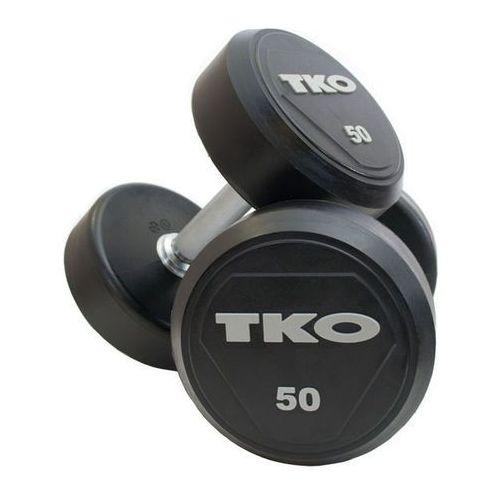 Hantle stalowe gumowane 2 x 8 kg - 2 x 8 kg marki Tko