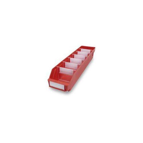 Skrzynka regałowa z wysokiej jakości, odpornego polipropylenu,czerwona marki Stemo