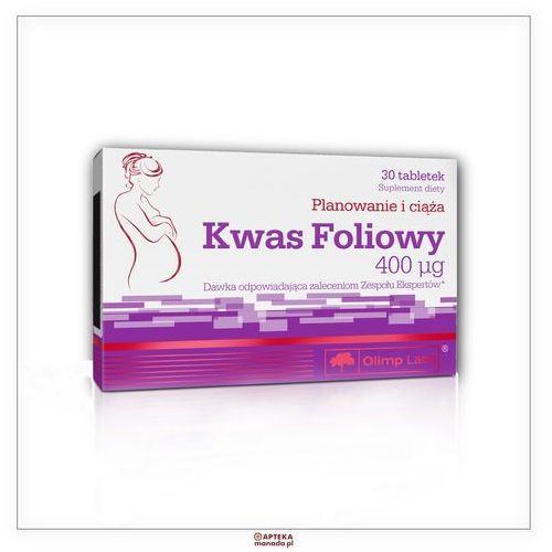 OLIMP Kwas foliowy 400mcg tabl. 0,4 mg 30 tabl. (5901330034961)