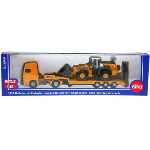 super s1839 - ciężarówka z lawetą + ładowarka marki Siku