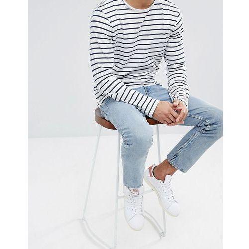 Weekday Vacant Cropped Spring Blue Jeans - Blue, kolor niebieski