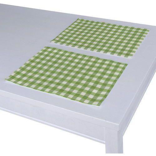 Dekoria podkładka 2 sztuki, zielono biała kratka (1,5x1,5cm), 40 x 30 cm, quadro