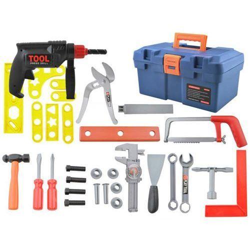 Skrzynka z narzędziami dla dzieci wiertarka młotek marki Iso trade