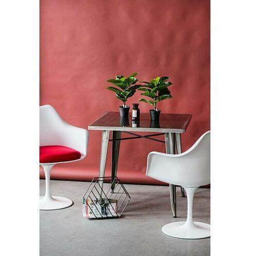 D2.design Krzesło tular inspirowane tulip armchair - szary   biały (5902385706940)