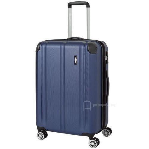 Travelite city średnia walizka poszerzana 68 cm / granatowa - granatowy