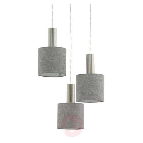 Lampa wisząca Eglo Concessa 2 97673 sufitowa 3x60W E27 satyna/szary (9002759976736)