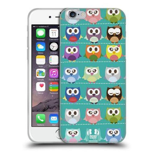Etui silikonowe na telefon - kawaii owl green pattern marki Head case