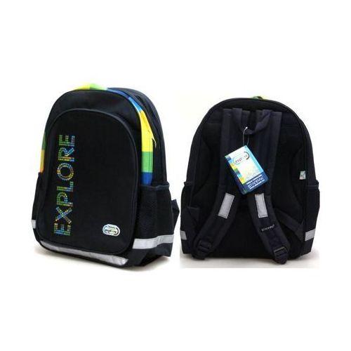 Starpak, Discovery World III, plecak szkolny dwukomorowy, kolor zielony