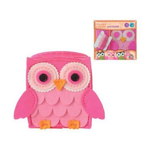 portfel sowa różowy marki Stnux