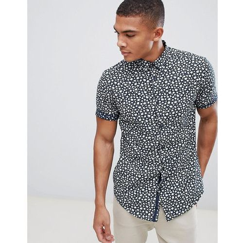 New Look Shirt In Regular Fit With Floral Print In Navy - Navy, w 5 rozmiarach