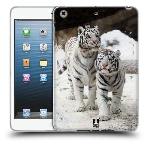Head case Etui silikonowe na tablet - znane zwierzęta para tygrysów białych