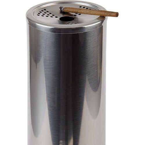 Kosz na śmieci ze stali nierdzewnej z nakładaną popielniczką o średnicy 90 mm | APS, Smokers Point