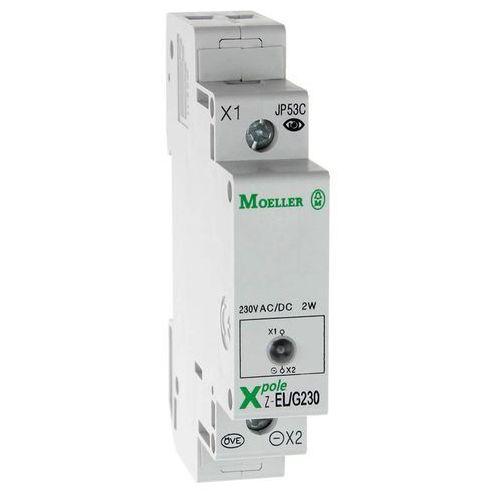 Lampka sygnalizacyjna 1 fazowa zielona 230v ac/dc na szynę th 35 z-el/g230 284922 electric marki Eaton