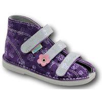 Adamki profilaktyczne buty wzór 015nk fiolet misie/popiel