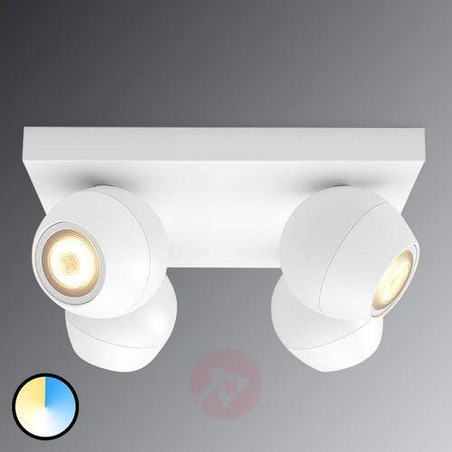Spot LED Philips Hue Buckram White Ambiance, biały