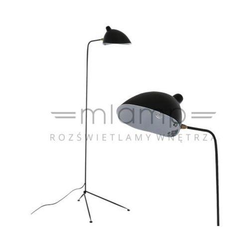 Stojąca lampa podłogowa davis mle3049/1  metalowa oprawa z włącznikiem czarna marki Italux