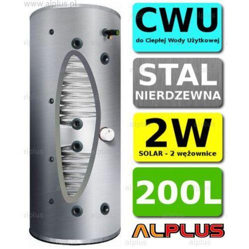 Bojler JOULE CYCLONE 200L 2-wężownice 2W, KLASA ENERGETYCZNA B, nierdzewny wymiennik, podgrzewacz CWU, Wysyłka GRATIS!, TCPMVS-0200LFB
