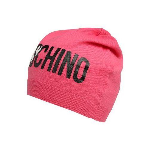 MOSCHINO Czapka pink, kolor różowy