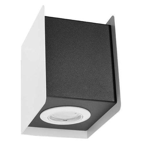 Kinkiet LAMPA ścienna SOL SL.401 metalowa OPRAWA kwadratowa kostka cube biała czarna (5902622429007)