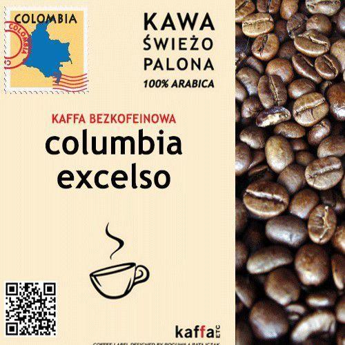 Kawa swieżo palona Kawa bezkofeinowa columbia excelso 250 g