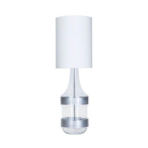 Lampa oprawa stołowa 4Concepts Biaritz Silver 1x60W E27 biały/srebrny L223281302 (5901688145401)