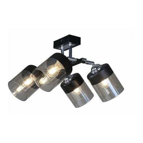 porto cl19020-4-bl plafon lampa sufitowa e14 czarna marki Zuma line