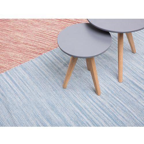 Dywan - jasnoniebieski - 140x200 cm - bawełna - handmade - DERINCE