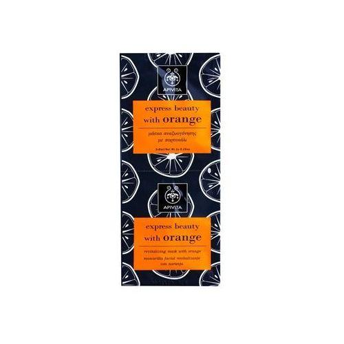 Apivita  express beauty orange rewitalizująca maseczka do twarzy 2 x 8 ml, kategoria: maseczki do twarzy