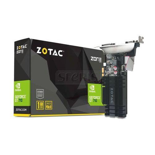 Karta graficzna Zotac GeForce® GT 710, 1GB DDR3 (64 Bit), HDMI, DVI, VGA - ZT-71304-20L