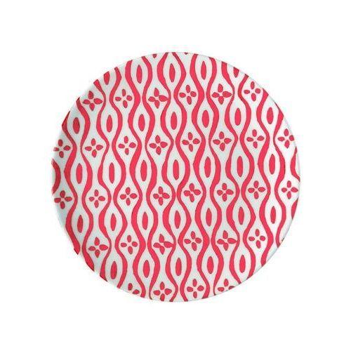 Guzzini - tiffany - talerz deserowy le maioliche, czerwony