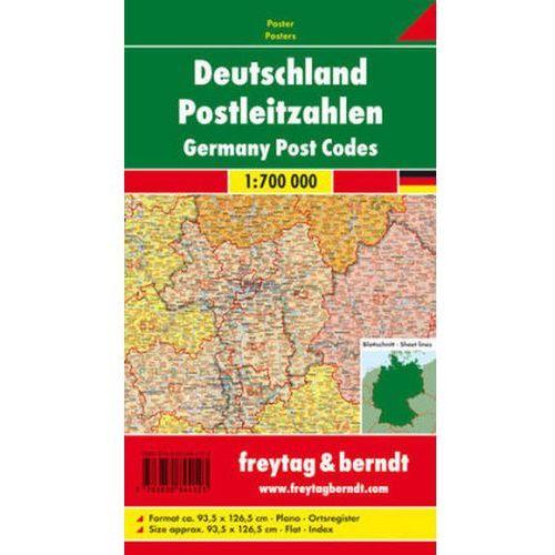 Freytag & Berndt Poster Deutschland, Postleitzahlen, ohne Metallstäbe. Germany, Post Codes (9783850844123)