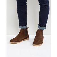 suede chelsea boots in brown - brown, Zign