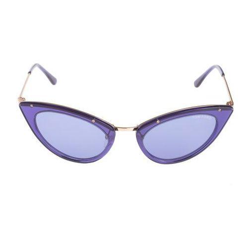 Tom ford grace okulary przeciwsłoneczne niebieski uni