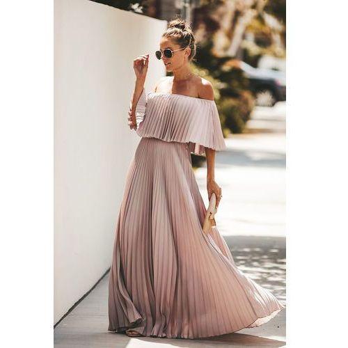 Sukienka LELA PUDRA, w 4 rozmiarach
