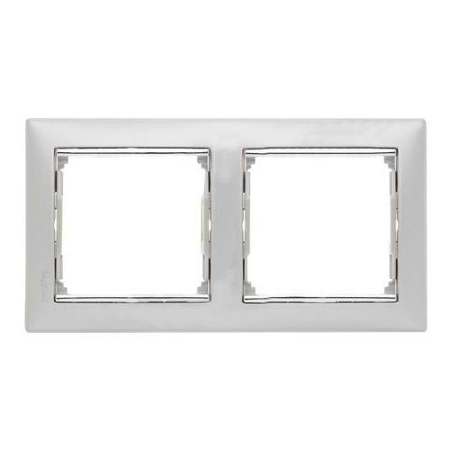 Legrand Valena ramka podwójna pozioma aluminium 770352 (3245067703526)