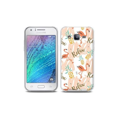 Samsung Galaxy J5 - etui na telefon Full Body Slim Fantastic - różowe flamingi