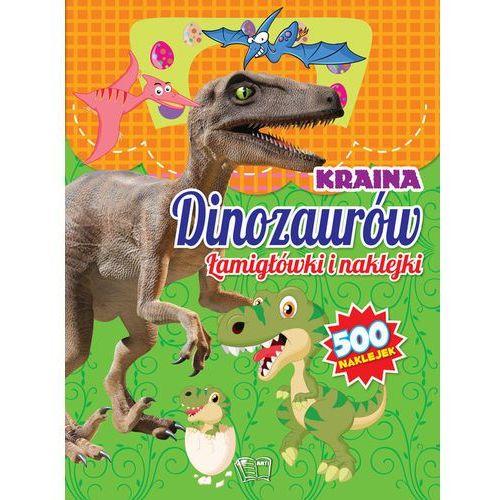 Kraina dinozaurów łamigłówki i naklejki - praca zbiorowa marki Arti