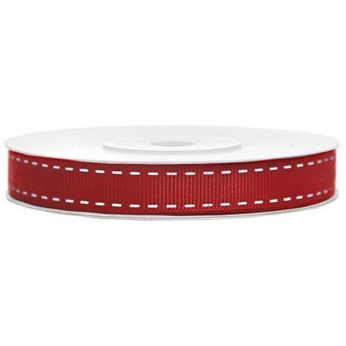 Tasiemka rypsowa czerwona 15mm/25m, TR/8339