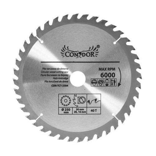 Tarcza do drewna CON-TCT-2504 śr. 250 mm 40 z CONDOR (5902143114178)